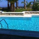 Camera con piscina