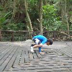 en el deck de yoga, mmmm