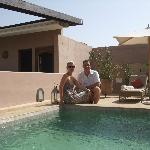 The rooftop terrace - by the plunge pool