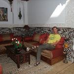 Communal sofa area