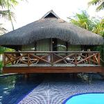 Nosso bangalo, foto tirada da nossa piscina privativa.