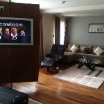 TV and the seating area