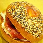 salmon and creamcheese bagel