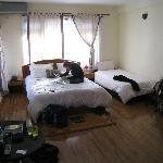 Large top floor corner room