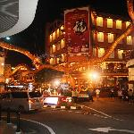 Walk from hotel, find the river/small bridge then you will see the Jonker Street live at night.