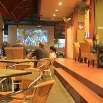 soccer game at night at big screen