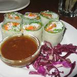 Viet spring rolls with dipping sauce