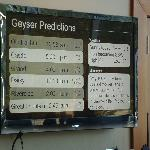 Geyser prediction times outside