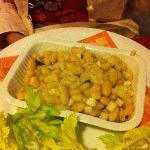 un'insalata di fagioli