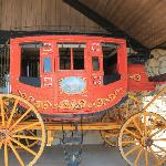 Stagecoach as you walk into the visiors center