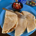Chicken quesadillas at $9
