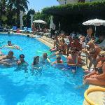 poolside havin fun