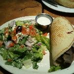 Delicious Gyro and side salad
