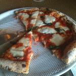 Margherita Pizza with fresh basil - Yummo!!
