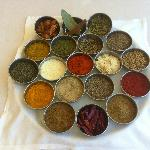 Jaipur Restaurante, Nerja, Spain - exotic spices tray