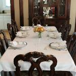 The table is set for your full gourmet breakfast.