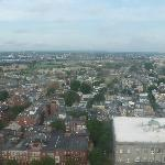 Boston area view from top of bunker hill monument