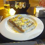 Tosta de champiñones (4,95€).