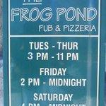 Frog Pond Pub & Pizzaria