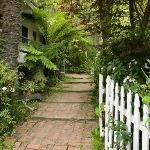 Path to the bungalow rooms