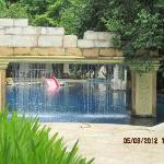 One of the many water features