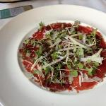 appetizer-carpaccio.  it was awesome!