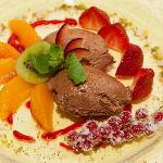Delicious chocolate mousse.