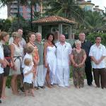 The wedding party and families.