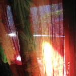 Batik curtains on the windows