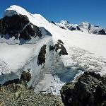 Breithorn 4164m ü.M. Die Sicht vom Klein Matterhorn aus.