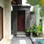 inside villa looking at entrance doors