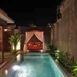 One Bedroom Villa - View from Bedroom at night. Superb!