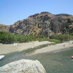 Preveli, spiaggia con fiume