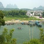 View from our room at the Green Lotus Hotel, Yangshuo