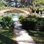 la piscina nel giardino