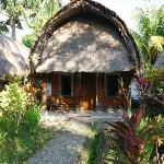 bungalows avant la piscine