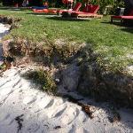 spiaggia e sporcizia