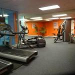 fitness room (in the marriott)