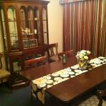 the dining room in the General Suite