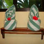 made up towels