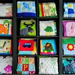 Hand-stitched baby quilts