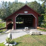 Covered bridge right by the market...walking only