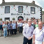 Opening day at The Butcher's Arms