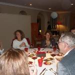 le repas au restaurant de l'Hostellerie de Levernois