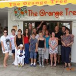 The gang at the Orange Tree with Stuart & Karen