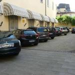 The parking outside the hotel