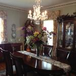 The dining room/breakfast area