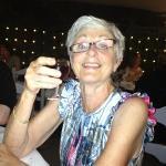 mum enjoying the complimentary port