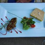 The food is amazing.  Here is some foie gras.
