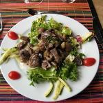 Délicieuse salade corrézienne